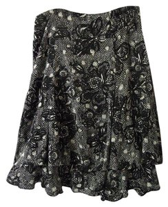 212 Collection Lined Ruffle Layers Floral Skirt