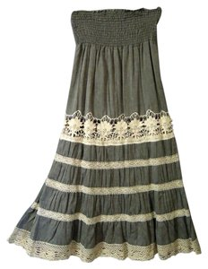Romeo & Juliet Couture Lace Maxi Skirt gray