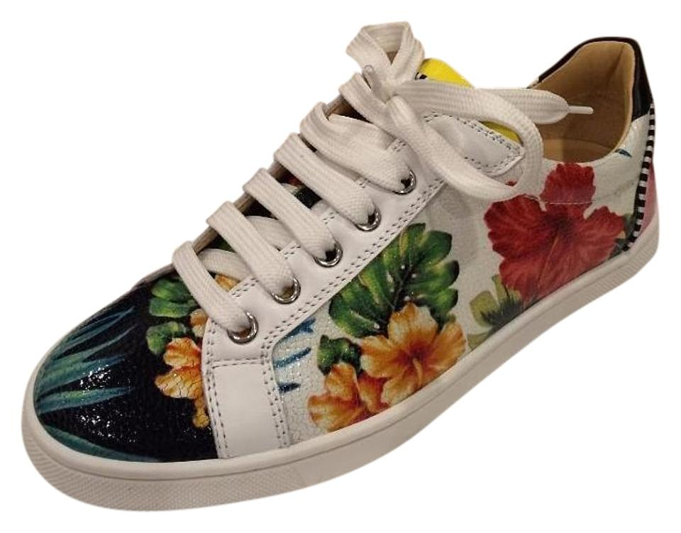 new products c8389 16cbe Christian Louboutin Multi Hawaiaan Print Seava Patent Hawaii Floral  Sneakers Size US 10 Regular (M, B) 16% off retail