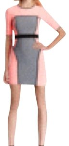 MILLY short dress Pink, gray, and white on Tradesy