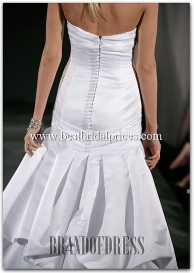 Watters & Watters Bridal White Satin Audrey Modern Wedding Dress Size 14 (L)