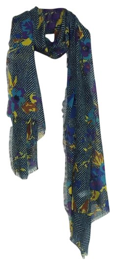 other New' Printed Flowers Scarf Item:P303120