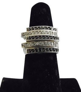 Victoria Wieck Victoria Wieck Absolute Black and White Diamond Ring Size 7