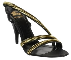 Burberry Black & Gold Sandals