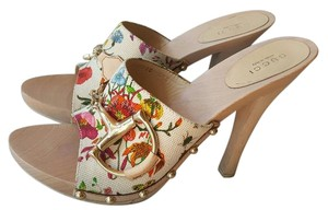 Gucci Floral Sandals Heels Multicolor Mules