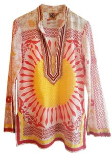 Tory Burch Sunflower Print Summer Tunic