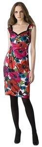 Nanette Lepore Silk Floral Colorful Sheath Dress