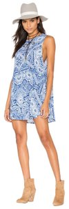 Show Me Your Mumu short dress blue Cover-up Print on Tradesy