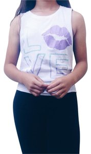 Aropostale Top White, Purple, & Teal