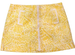 Lilly Pulitzer Skort Sunglow Yellow Sea Cups