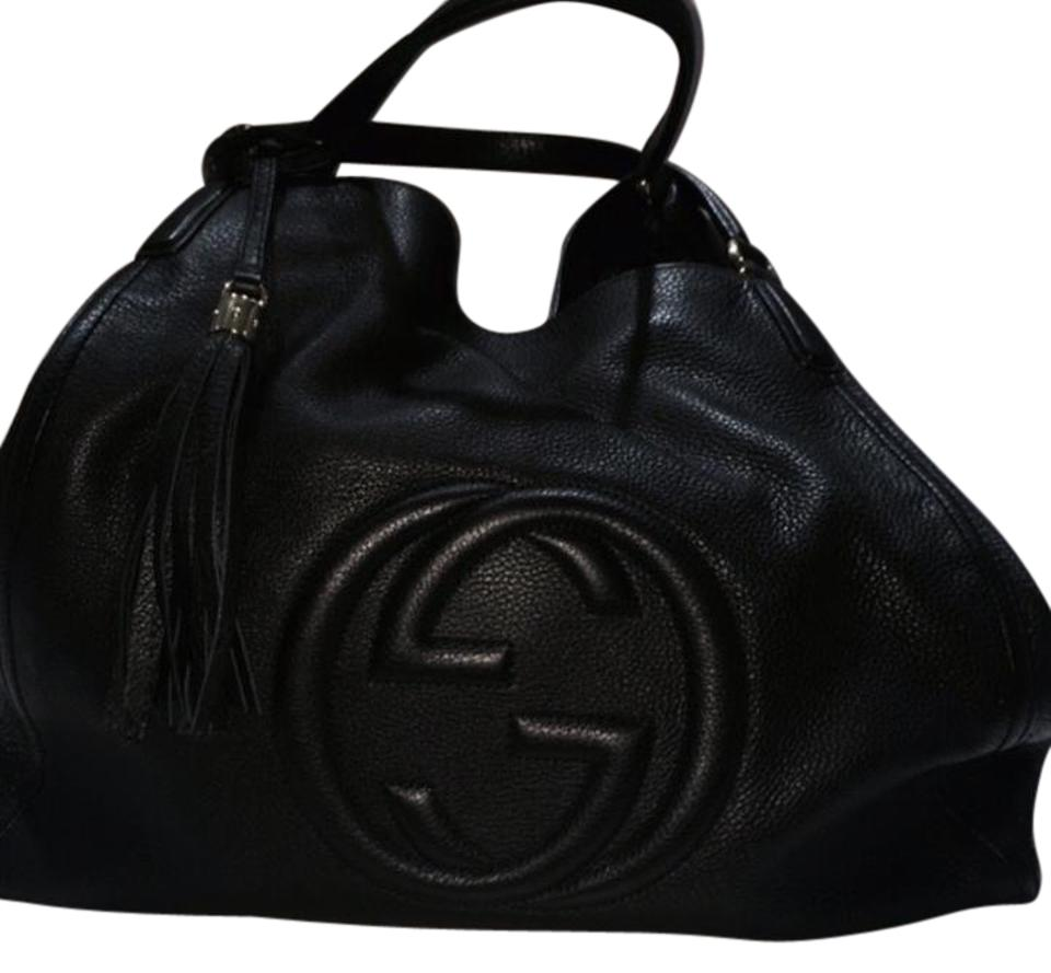 b37e5be9654c3 Gucci Soho Shoulder Black Leather Hobo Bag - Tradesy