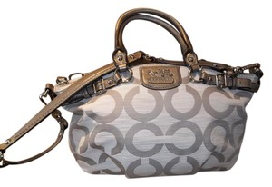 Coach Tags A1220-19641 Satchel in Pewter