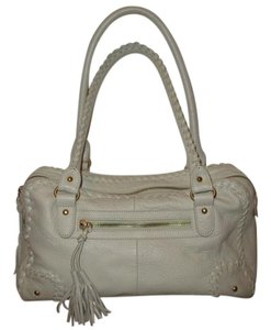 Coldwater Creek Leather Satchel in light beige