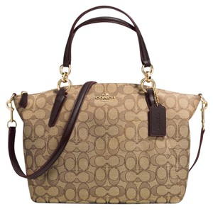 Coach Satchel in Brown / Khaki