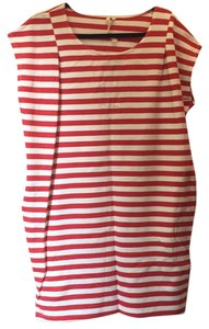 O by Organics short dress Red, white on Tradesy