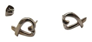 Tiffany & Co. Paloma Picasso Loving Heart Sterling Silver Earrings