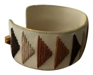 Vince Camuto Vince Camuto Embroidered Leather Cuff Bracelet