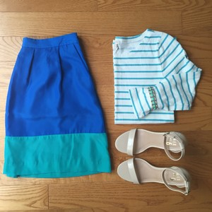 J.Crew Skirt Blue and Green