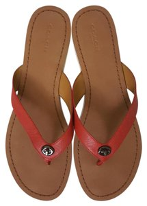Coach Shelly Red Sandals