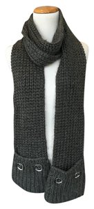 Michael Kors Fisherman Knit Scarf With Pockets
