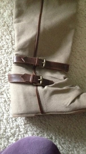 Boutique Wedge taupe khaki Boots