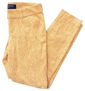 Old Navy Skinny Pants Yellow and White
