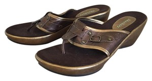 Skechers Thong Wedge Comfortable Stylish Bronze Sandals