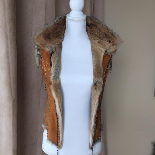 Roberto Cavalli Luxorious Lapin Suede & Chains Rabbit Vest - 56% Off Retail 80%OFF