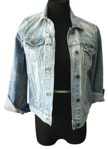 Lucky Brand Distressed blue Womens Jean Jacket