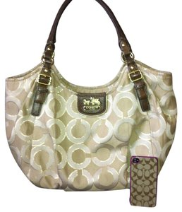 Coach Beige Tan Madison Shoulder Bag
