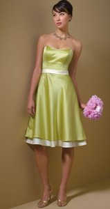 Alfred Angelo Kiwi / Butter New With Tags Style 7044 Dress