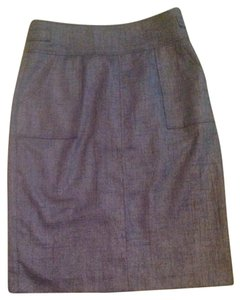 Halogen Petite Pockets Buttons Lined Skirt