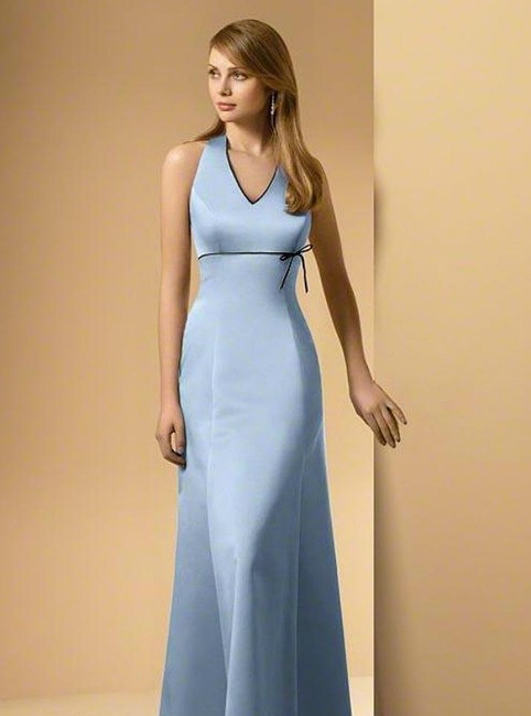 Item - Platinum / Navy Satin New with Tags Style 6499 Formal Bridesmaid/Mob Dress Size 10 (M)