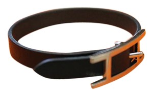 Hermès Hermes Black Hapi Leather Bracelet