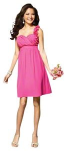 Alfred Angelo One Flower-detail Pink Bridesmaid Dress