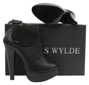 Thomas Wylde Rocker Leather Platform Black Platforms