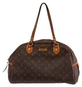Louis Vuitton Montorguell Canvas Satchel in Monogram