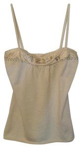 Beth Bowley Anthropologie Tank Embroidered Beaded Silk Trim Sweater