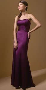 Alfred Angelo Grape Satin New with Tags Style 7042 Formal Bridesmaid/Mob Dress Size 8 (M)
