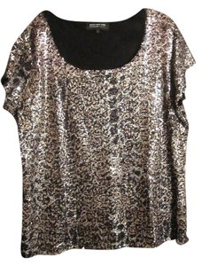 Jones New York Top Black, silver and gold