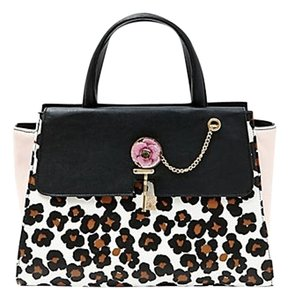 Betsey Johnson Betsy Leather Leopard Satchel