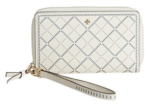 Tory Burch Wristlet in New Ivory/Riviera Blue
