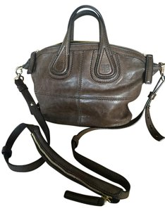 Givenchy Gold Hardware Double Zip Satchel in Dark Brown - Style # 502227985