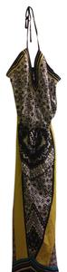 multi color whit black blue yellow Maxi Dress by New York & Company Stylish