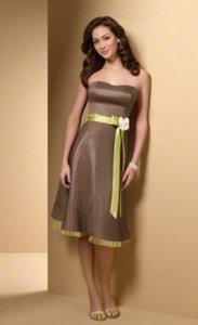 Alfred Angelo Mocha / Kiwi New With Tags Style 7014 Dress