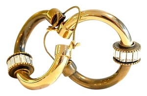 Lanvin New Rhinestone Hoop Earrings