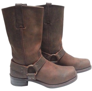 Frye Washed Oiled Leather O-ring Style 481040 Smoke Boots