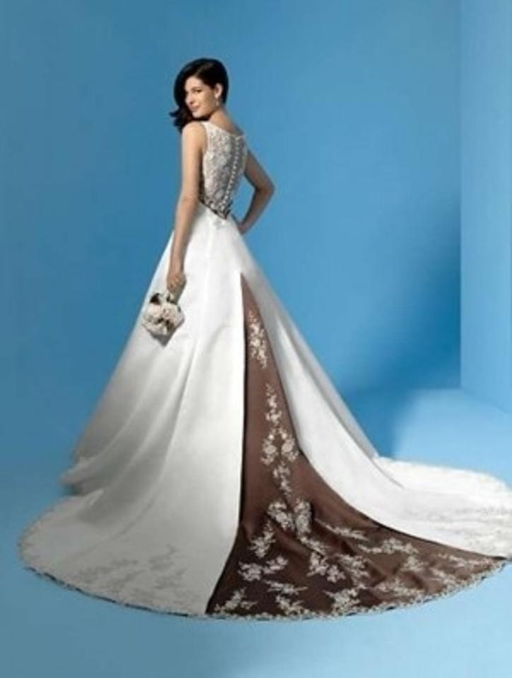 Alfred Angelo Ivory/Mocha Satin New with Tags Style 1187 Formal ...
