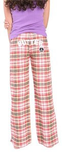 Butter School Children New Flannel Wide Leg Pants Red Cream Black Multi Plaid