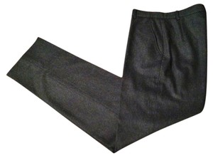Armani Collezioni Charcoal Heathered Must Have Cashmere Designer Straight Pants Grey/Charcoal